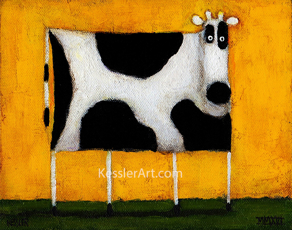 yellow cow kessler art